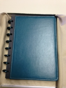 Levenger Teal Fold-over Circa in Junior Size...unboxed
