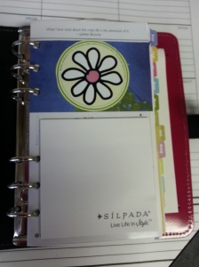 What I see when I open my planner