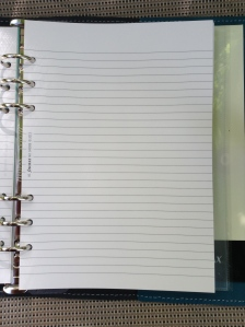 Some lined note paper
