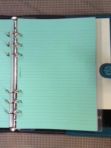Pretty green note paper