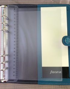 Then you have your frosted page marker ruler and a frosted page protector sheet