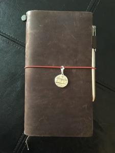 "Regular size Midori Traveler's Notebook in ""Brown"""