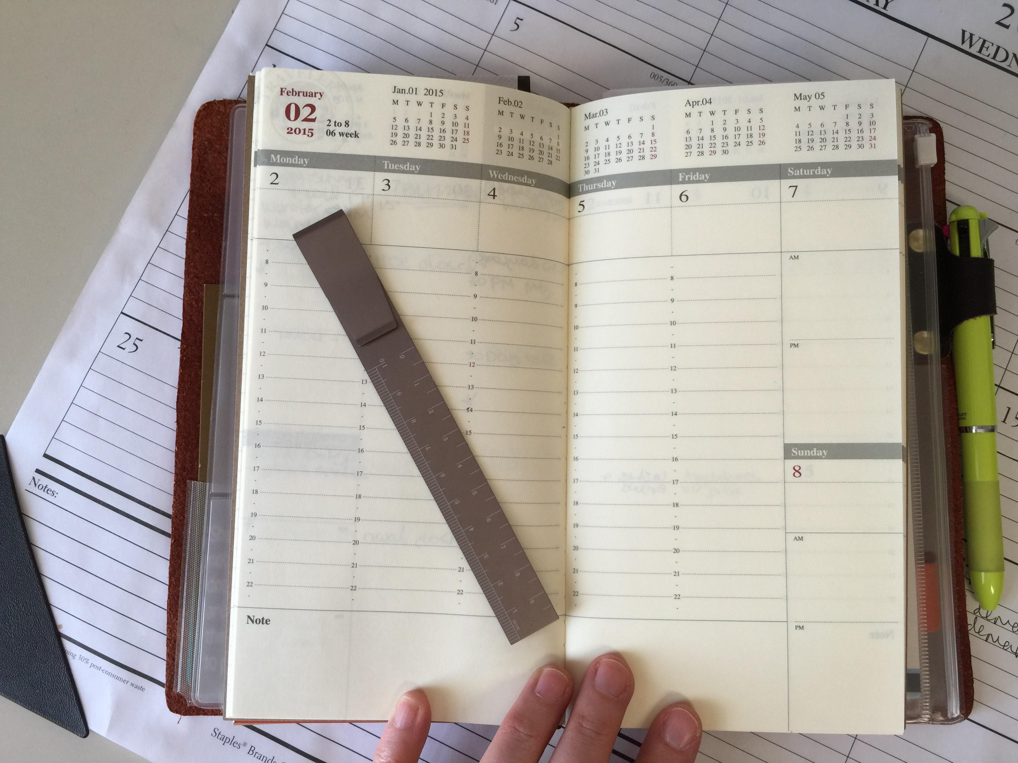 Traveler S Notebook Calendar Inserts : Conundrum week two traveler s notebook the